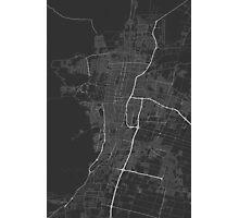 Mendoza, Argentina Map. (White on black) Photographic Print