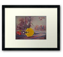 8 Bit Landscape Framed Print