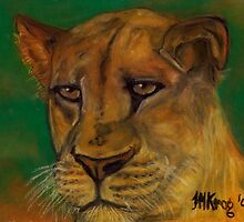 Lioness Lying in Wait by Mariaan M Krog Fine Art Portfolio