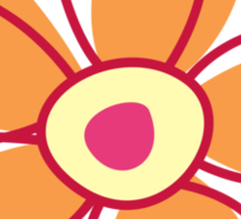 Flowers, Blossoms, Petals - Red Orange Yellow Sticker