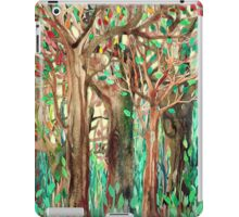 Walking through the Forest - watercolor painting collage iPad Case/Skin
