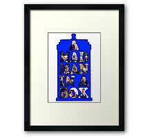 A mad man in a box Framed Print