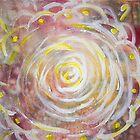 Red and Yellow Mandala by KendraJKantor