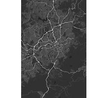Belo Horizonte, Brazil Map. (White on black) Photographic Print