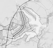 Brasilia, Brazil Map. (Black on white) by Graphical-Maps