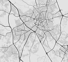 Campinas, Brazil Map. (Black on white) by Graphical-Maps