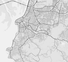 Porto Alegre, Brazil Map. (Black on white) by Graphical-Maps