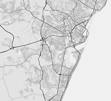 Recife, Brazil Map. (Black on white) by Graphical-Maps