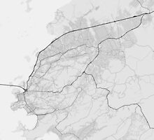 Sao Goncalo, Brazil Map. (Black on white) by Graphical-Maps