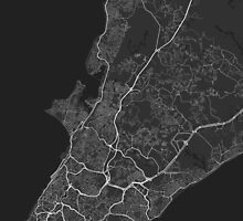 Salvador, Brazil Map. (White on black) by Graphical-Maps