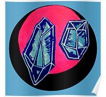 blue quartz Poster