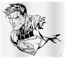 The Man of Steel (Ink) Poster
