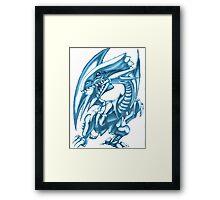 blue eyes white dragon yugioh Framed Print