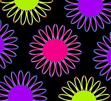 Big Mix-Up Daisy Abstract by ELVSmith03