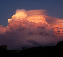 Dramatic sunset over Luxembourg (Pileus cloud) by bubblehex08