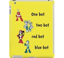 One bot, two bot, red bot, blue bot iPad Case/Skin