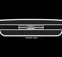 Datsun 2000 Grille - poster by shiftco