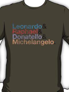 The Turtles (Color & Black Vintage) T-Shirt