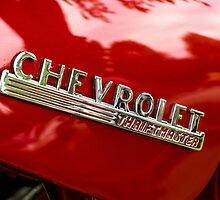 Chevrolet Red Truck Hood Badge - Thriftmaster by Mike Koenig