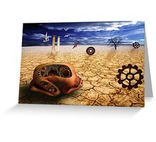left to get wet by the desert Greeting Card