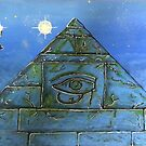UFO Alien Pyramid Painting by mdkgraphics