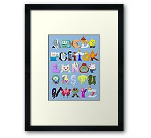 Adventure Alphabet Framed Print