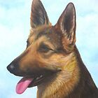 German Shepherd Dog by Vivian Eagleson