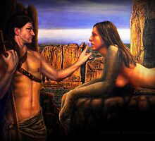Oedipus and the Sphinx by Ricardo Giraldez