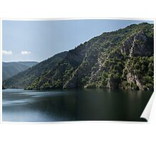 Steep Shores and Green Summer Light - a Mountain Lake Impression Poster