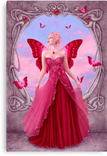 Ruby Birthstone Fairy by Rachel Anderson