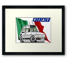 Fiat 126 caricature white Framed Print