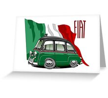 Fiat Multipla 600 caricature taxi Greeting Card
