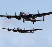 Lancaster Bombers by J Biggadike