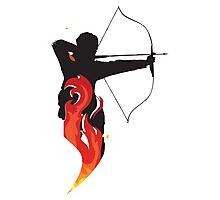 Katniss on Fire Photographic Print