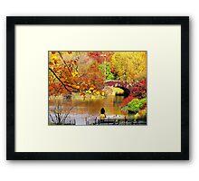 Autumn Paradise, Central Park - NYC Framed Print