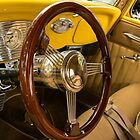 Ford Wood Steering Wheel and Chrome Dashboard by Mike Koenig