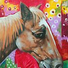 'PORTRAIT OF A HORSE (WITH AN ABSTRACT BACKGROUND)'  by Jerry Kirk