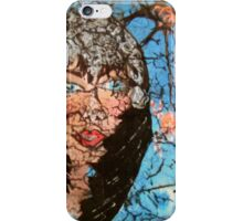 Lady with pumpkin iPhone Case/Skin