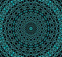 Teal Rings Mandala by Lyle Hatch