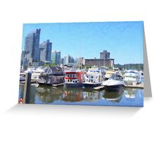 Vancouver Houseboats Greeting Card