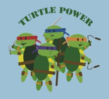 TMNT turtle power by KraziKris