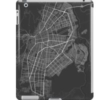Cali, Colombia Map. (White on black) iPad Case/Skin