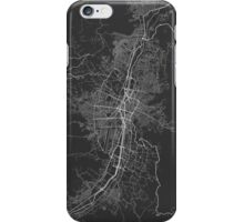 Medellin, Colombia Map. (White on black) iPhone Case/Skin