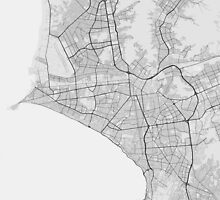 Lima, Peru Map. (Black on white) by Graphical-Maps