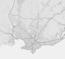 Montevideo, Uruguay Map. (Black on white) by Graphical-Maps