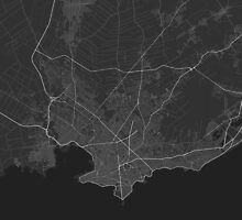 Montevideo, Uruguay Map. (White on black) by Graphical-Maps