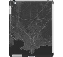 Montevideo, Uruguay Map. (White on black) iPad Case/Skin