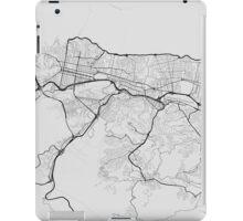 Caracas, Venezuela Map. (Black on white) iPad Case/Skin