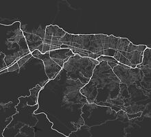 Caracas, Venezuela Map. (White on black) by Graphical-Maps