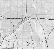 Saint Paul, USA Map. (Black on white) by Graphical-Maps